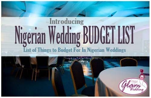 Wedding Budget List Typical Expenses in Nigerian Weddings