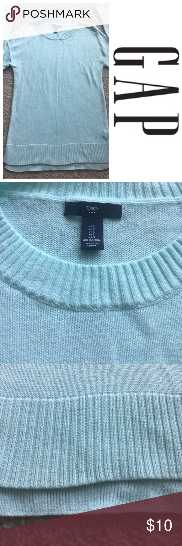 Gap thin blue sweater | Blue sweaters, Conditioning and Teal