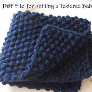 Easy Knitting Pattern Pdf To Knit A Chunky Baby Blanket Suitable