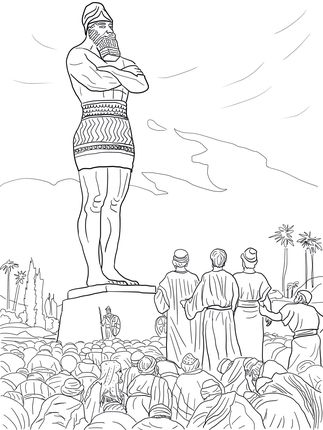 Amazing Fiery Furnace Coloring Page Shadrach Meshach And