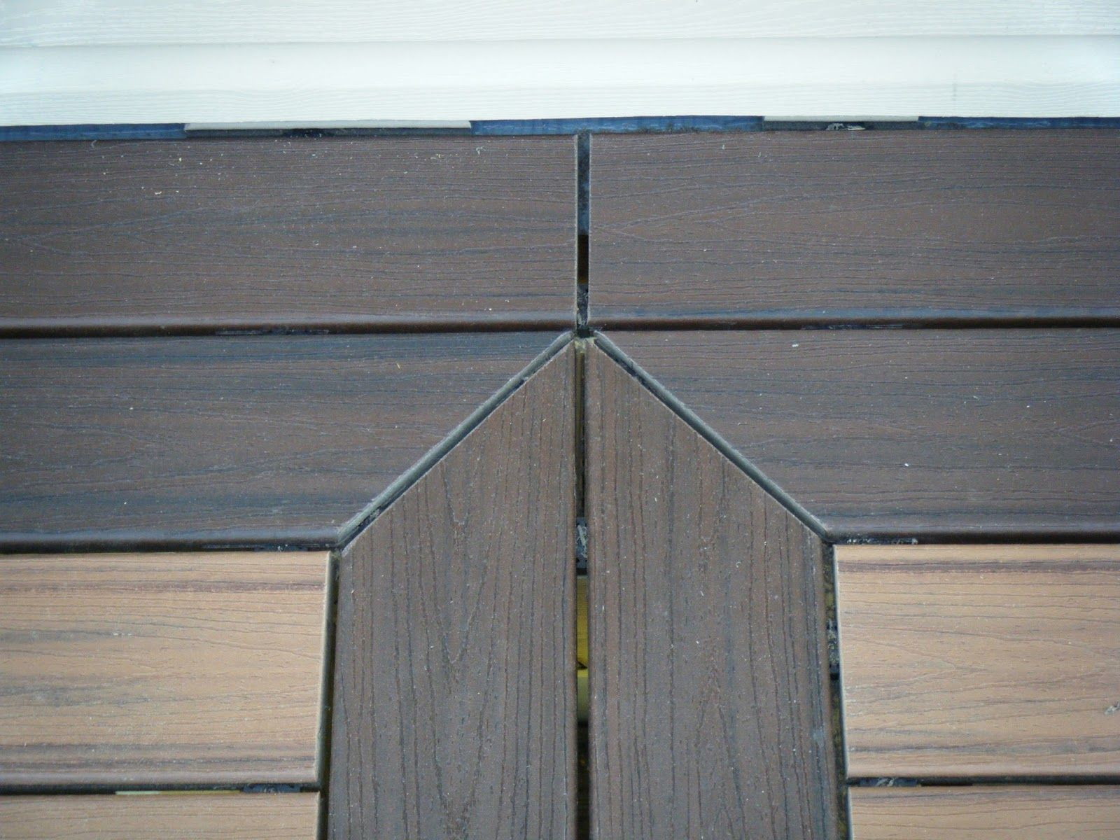 Ryan Homes - our Waverly: Trex deck installation with accent color ...