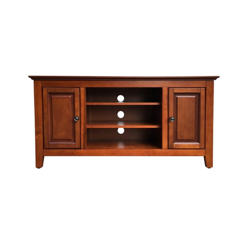 Delacora Bs Bitv001 Alexis 48 Inch Wide Wood Media Cabinet Light