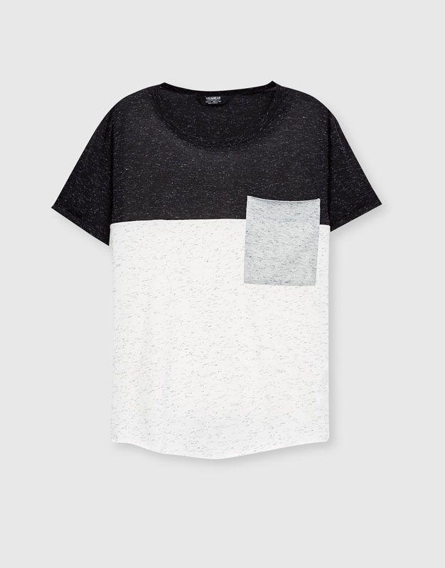 Camiseta paneles bolsillo - Camisetas - Ropa - Hombre - PULL BEAR España 384534b934d69