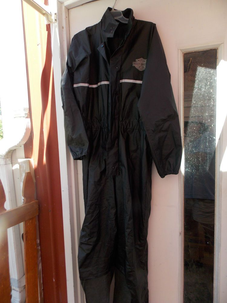 Harley Davidson One Piece Coveralls Rain Pants Suit Jacket Pants Mens 38 44 Harleydavidson Other Denim Coat Jacket Rain Pants Mens Pants