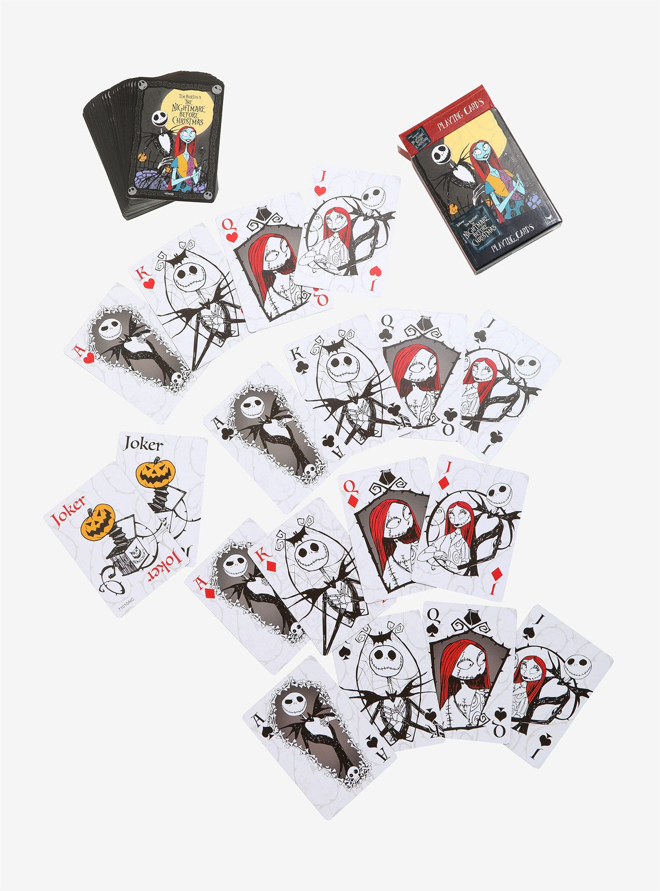 The Nightmare Before Christmas Jack & Sally Playing Cards in 2018 ...