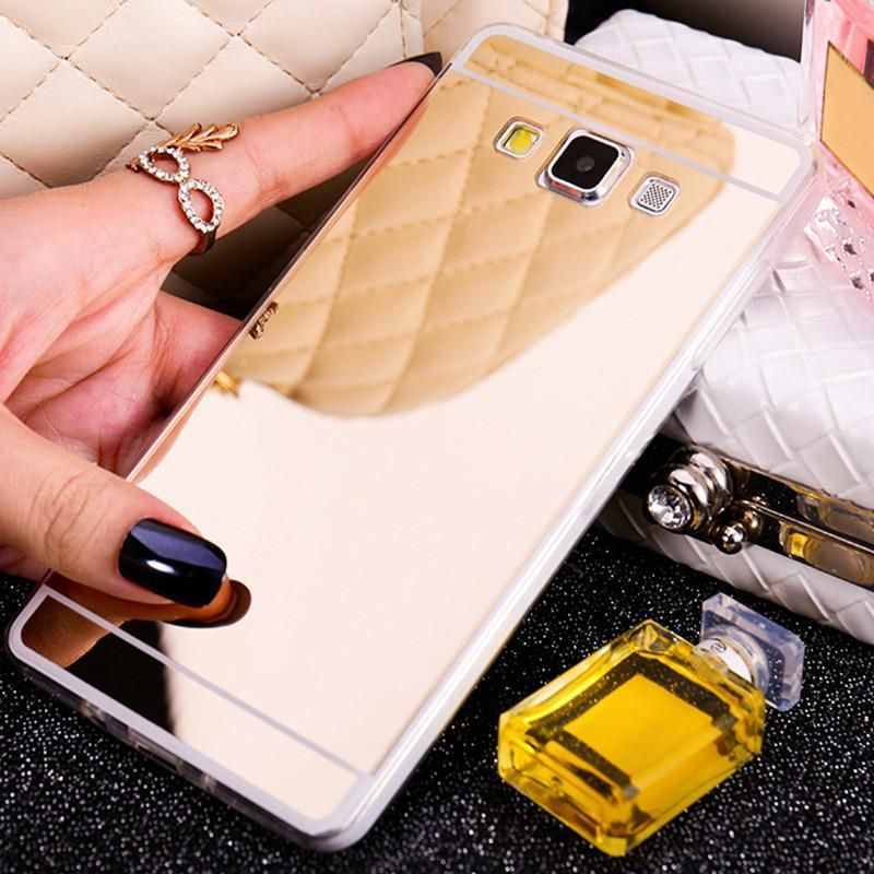 Gold Mirror Soft Case Back Shell Cover For Samsung Galaxy A5 A7 J1 J3 J5 J7 2015 2016 Grand Prime G531h S3 S4 S5 Neo S6 S7 Edge In 2021 Samsung Case Phone Cases
