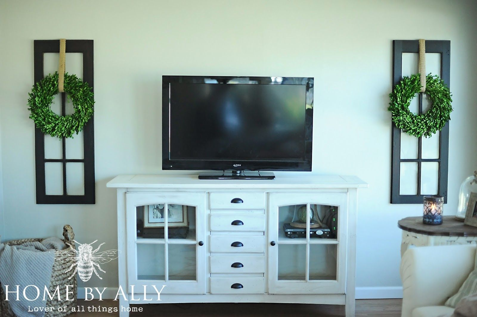 New Windows In The Sunroom And Decorating Around The Tv Decor Around Tv Tv Decor Home