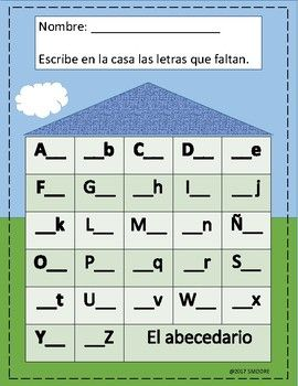 Alphabet worksheet spanish worksheets alphabet worksheets and spanish this activity will help your students to review the 27 letters of the alphabet in spanish spiritdancerdesigns