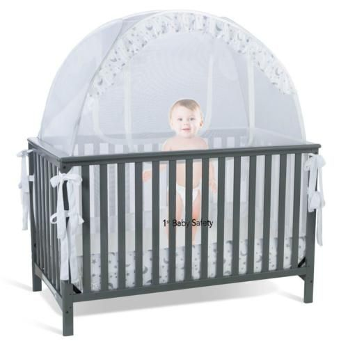 Crib Safety Net Tent Pop Up Cover Canopy Baby Bed Toddler Nursery Infant New Crib Tent Baby Crib Canopy Crib Canopy