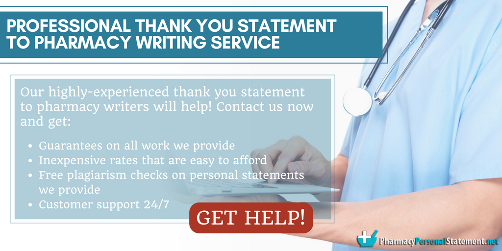 Writing thank you letter to pharmacist may be tricky to do