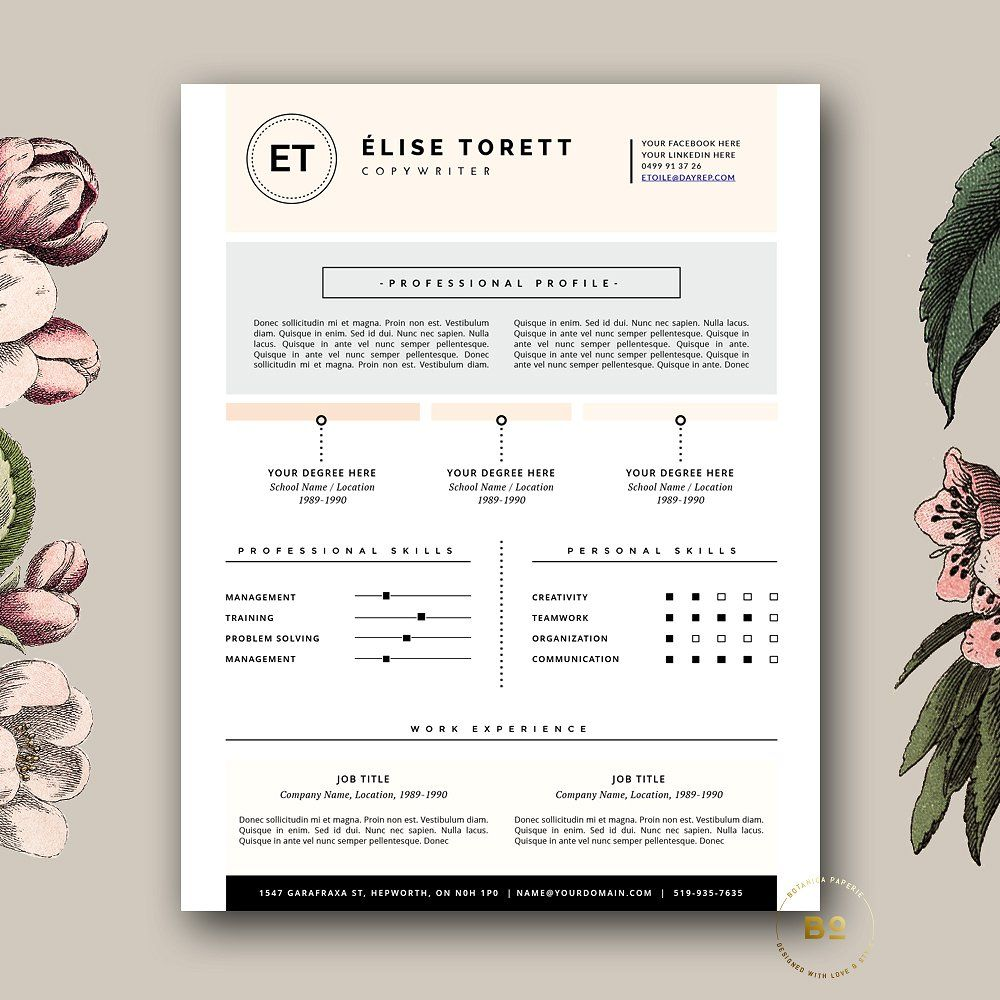 4 Page Resume Template for Word pagessimplyunlimited