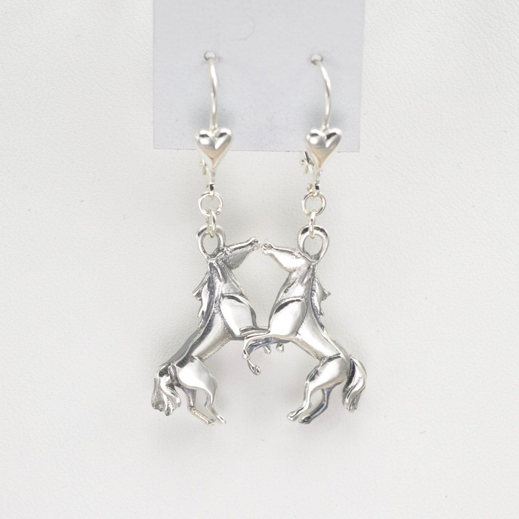 Sterling Silver Horse Earrings By Donna Pizarro From The Animal Whimsey Collection Of Jewelry