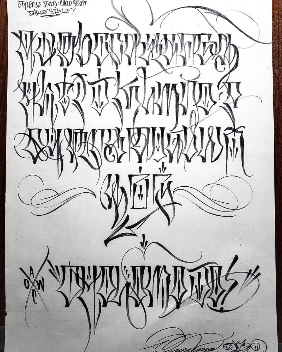 622 Likes 7 Comments Owenuma Daroe7 Aow Owenuma On Instagram Daroe7 Style Chol In 2020 Tattoo Lettering Alphabet Tattoo Fonts Alphabet Tattoo Lettering Design