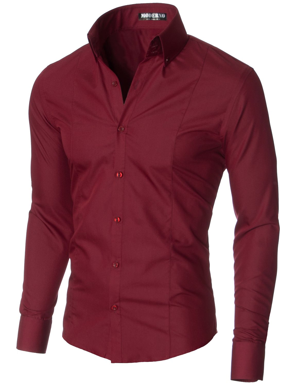 buy popular ccdba bac6d MODERNO Slim Fit Business Herren Hemd (MSSF501) Bordeaux ...