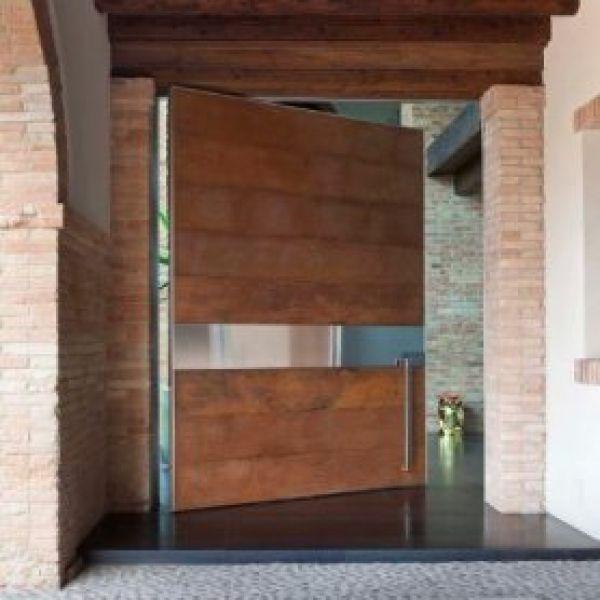 Acero corten puerta de buscar con google puertas for Vitropiso para interiores