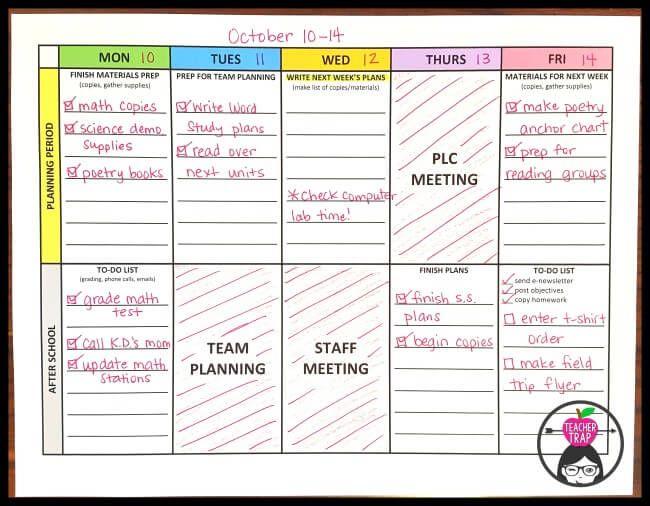 Taming the Teacher Work Week Teacher, Classroom organization and