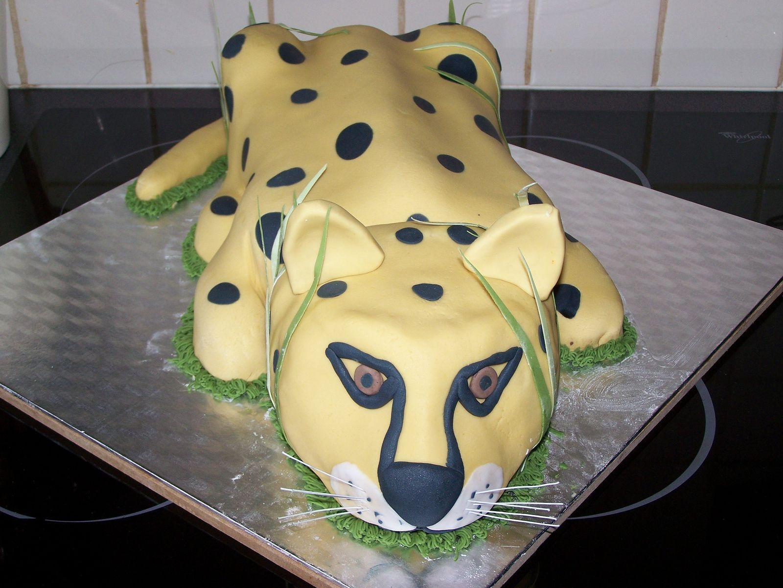 Groovy Cheetah Birthday Cake Cheetah Cakes Decoration Ideas Little Personalised Birthday Cards Vishlily Jamesorg