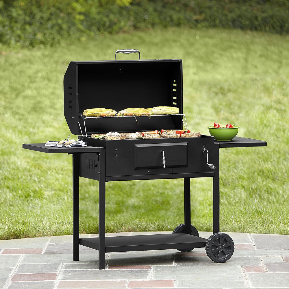 Large Charcoal Grill Portable BBQ Grilling Smoker Outdoor Barbecue Patio  Cooking