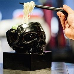 """mastermind JAPAN x HIDE-CHAN MASTERMIND RAMEN Hong Kong! """"Only the first 100 patrons each day will receive their very own skull bowl, so make sure you arrive well before the 6 p.m. start time."""""""