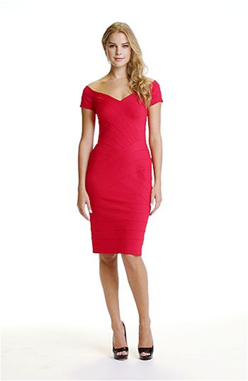 e30205f08b4 T by Tadashi Off Shoulder Bandage Dress available at  Nordstrom - cute for  Valentine s Day date night