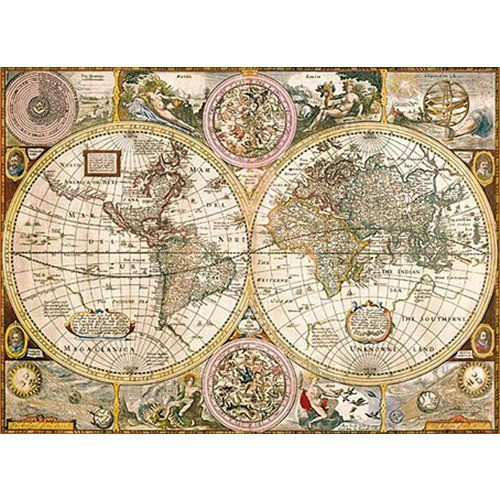 Old map 3000 piece jigsaw puzzle puzzles pinterest explore old world maps old maps and more gumiabroncs Images