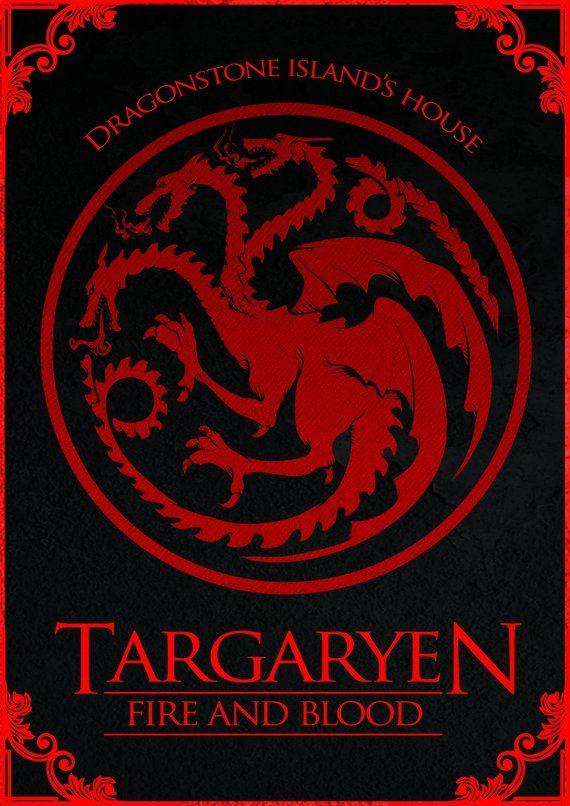 NEW Game of Thrones Wall Poster Fire /& Blood Targaryen Dragon Sigil