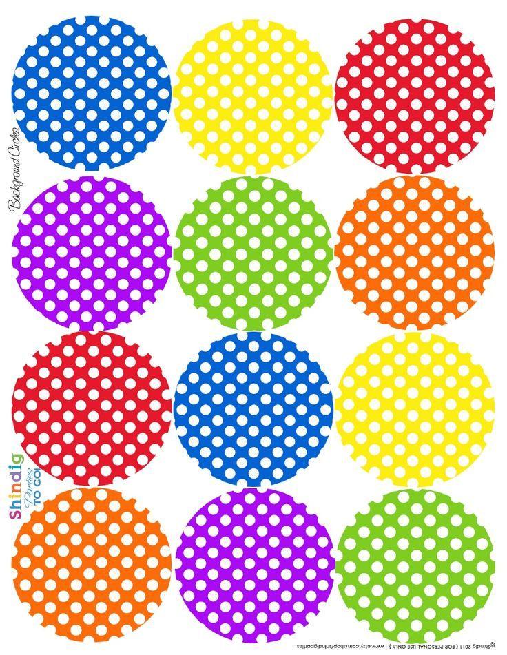 Polka dot circle free printables | Teaching & Cute Clipart ...