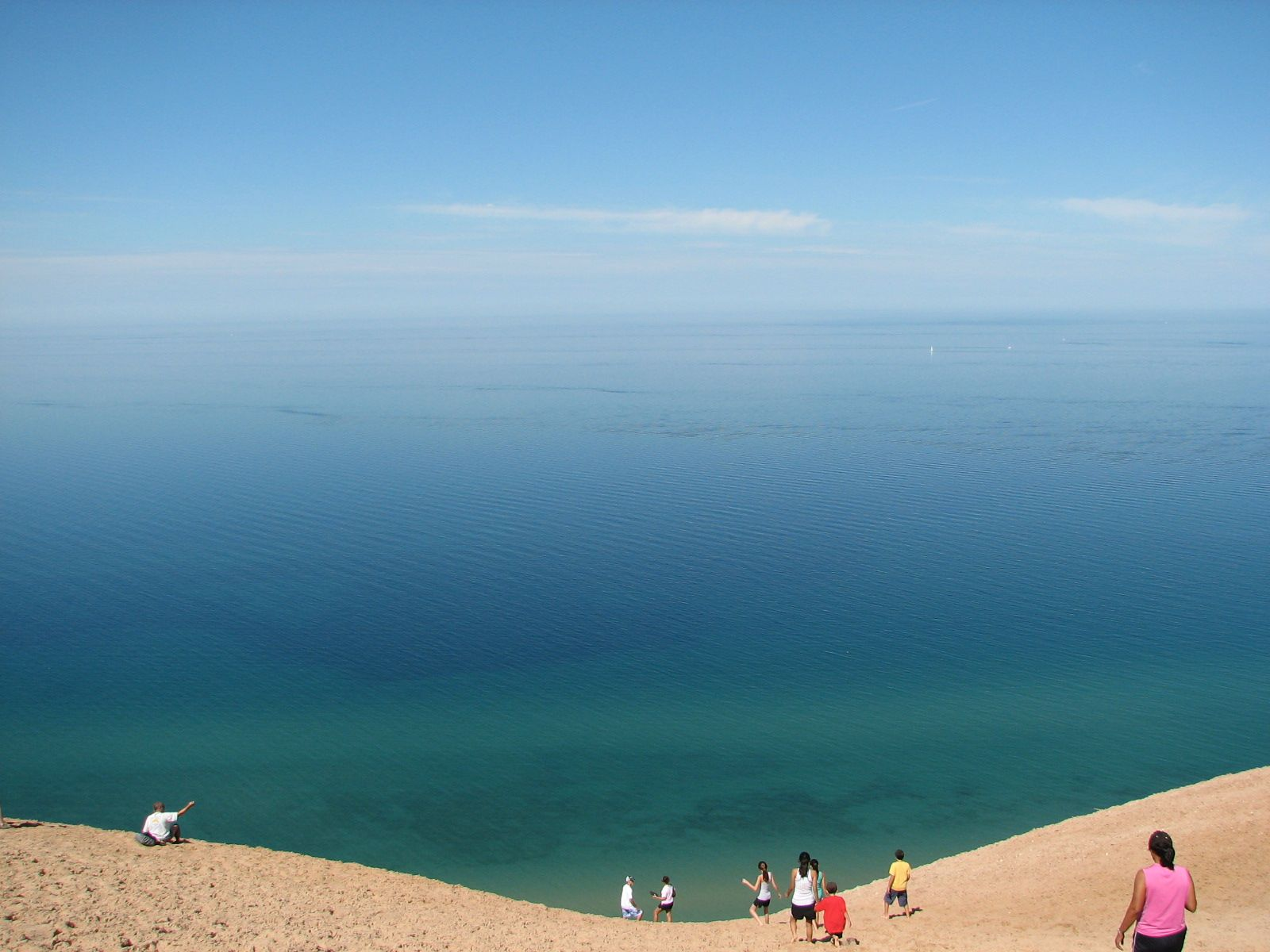 Climbing the Dunes  Lake Michigan