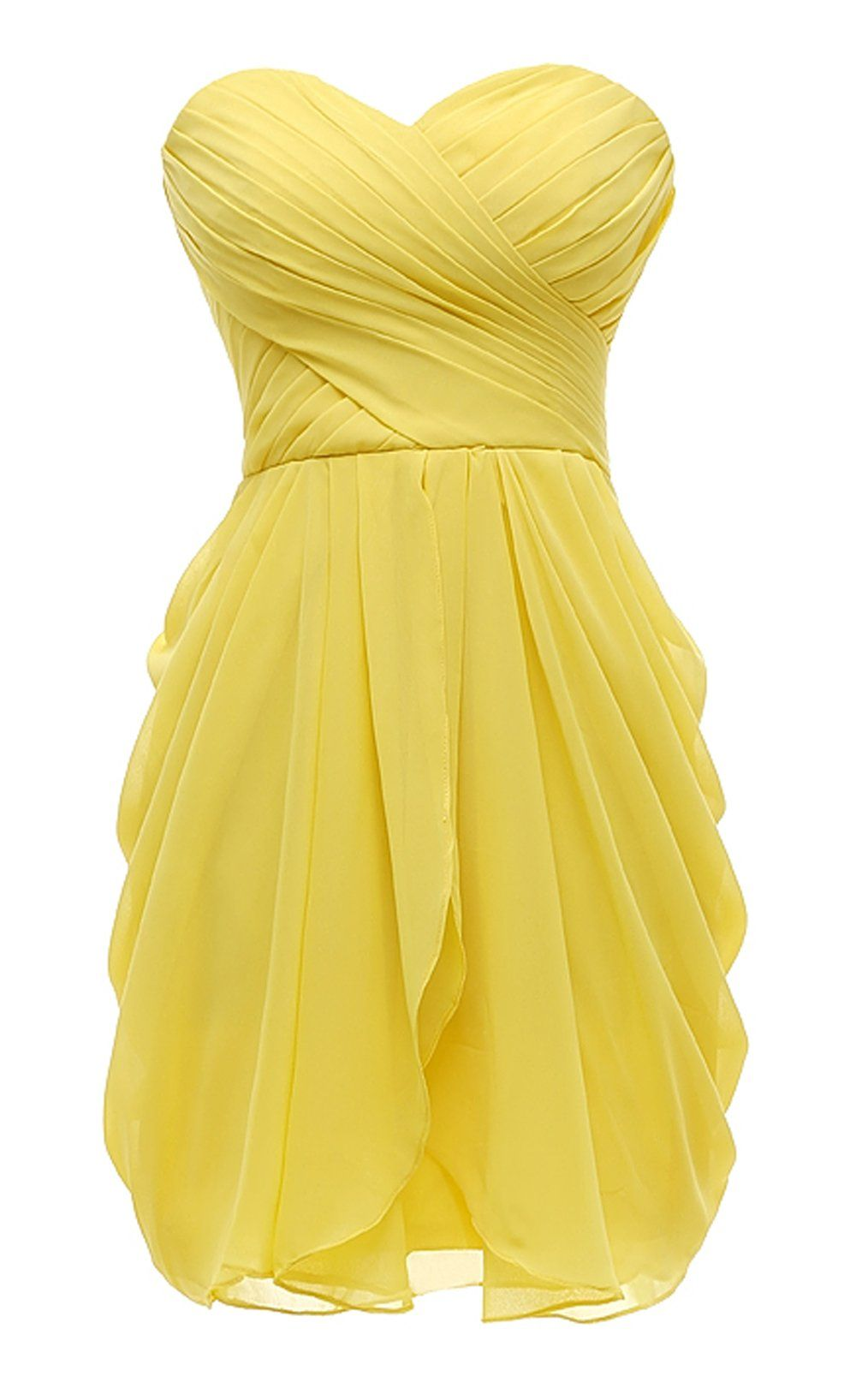 Kiss Dress Short Strapless Prom Dress Soft Chiffon Evening Dress Amazon Com Yellow Bridesmaid Dresses Short Strapless Prom Dresses Short Bridesmaid Dresses [ 1635 x 1000 Pixel ]