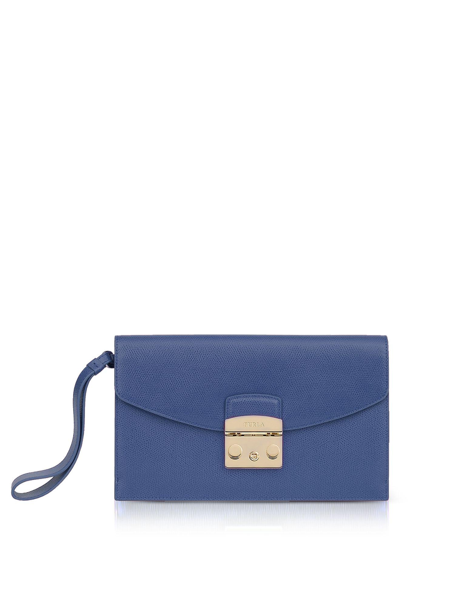 Shoulder Bag for Women On Sale, Peacock Blue, Leather, 2017, one size Furla