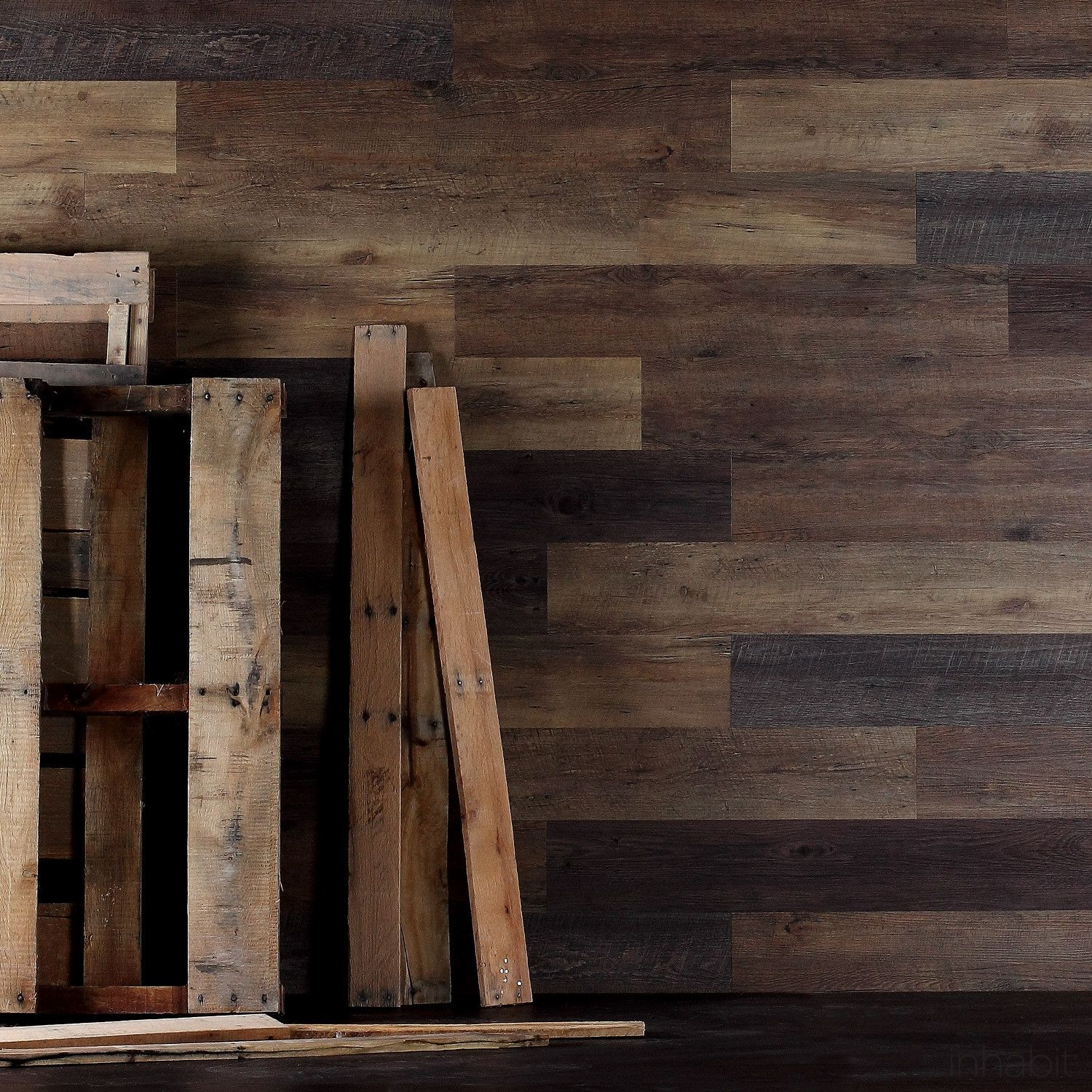 Pallet Wood Peel And Stick Wall Planks Pallet Wood Walls