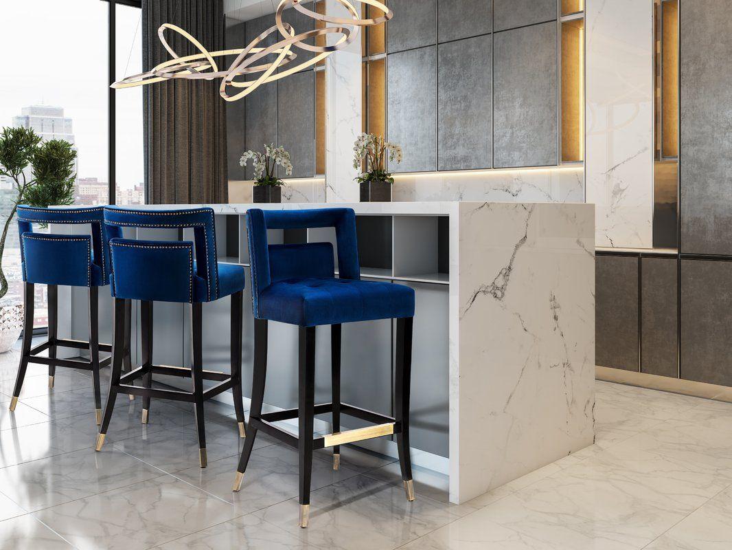 Cain Velvet Bar Stool Counter Stools Home Decor Kitchen Bar Stools