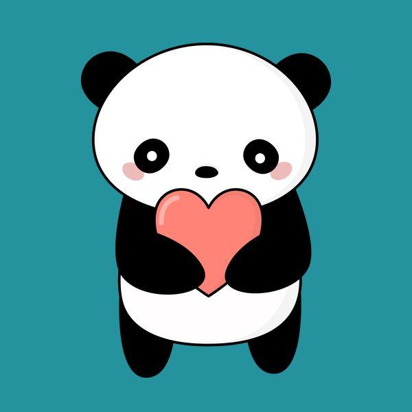 Kawaii Panda Love T Shirt Neatoshop We Love Animals