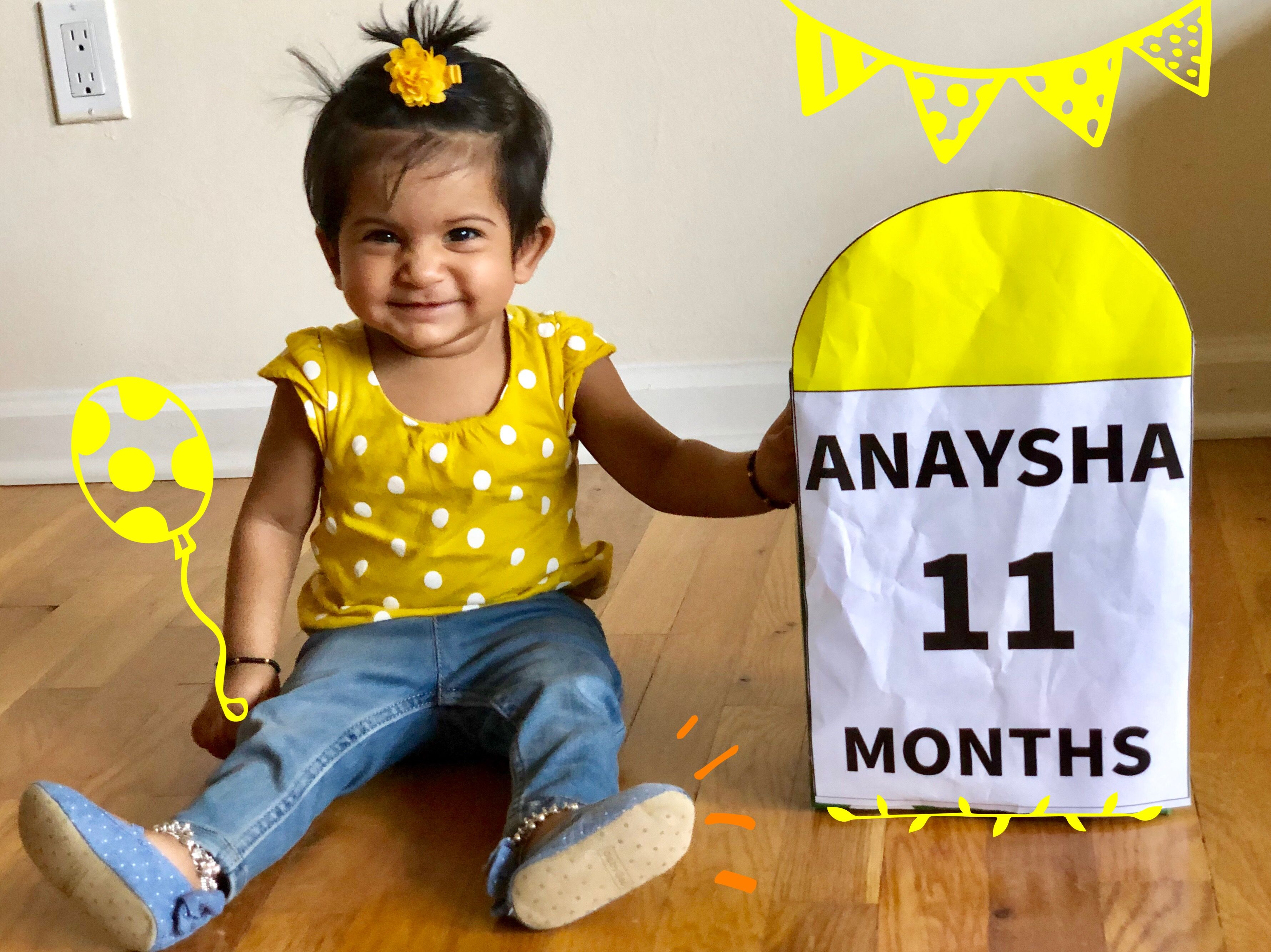 Happy 11 Months Monthly Baby Photos Baby Girl Newborn Photos Baby Photoshoot Girl