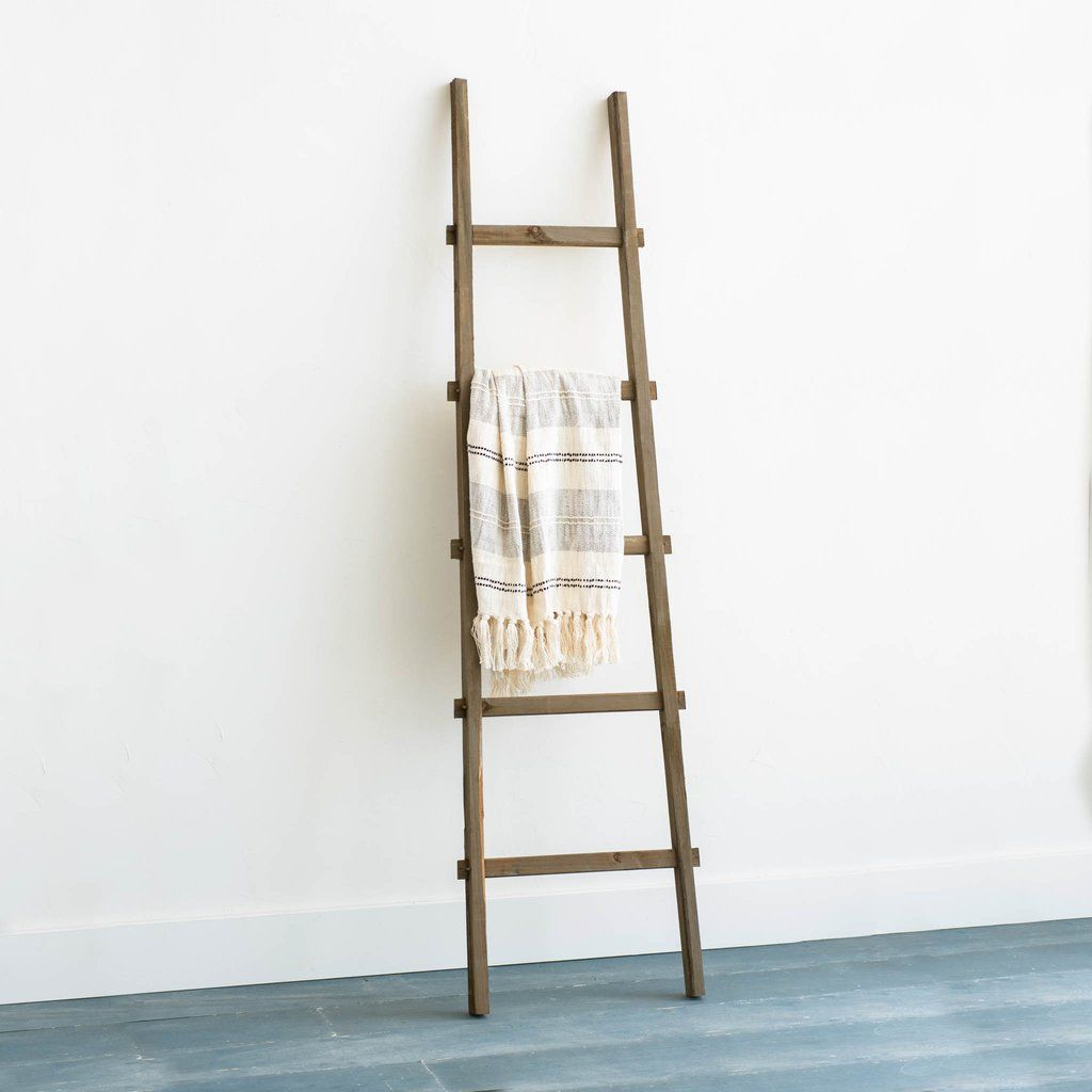 Wooden Display Ladder Ladder Ladder Decor Decor