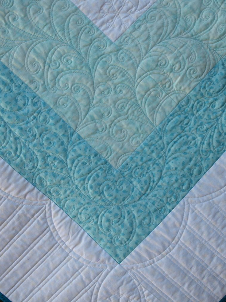 Border quilting on a domestic sewing machine by Emma How at ...