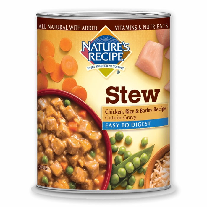 Wet Dog Food Natural And Healthy Nature S Recipe Dog Food Recipes Barley Recipe Canned Dog Food
