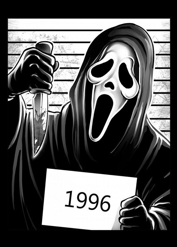 Horror Movies Prison Ghostface Scream Displate Artwork By Artist Alessio Magliano Part Of A Displate Horror Movie Characters Scream Art Horror Artwork