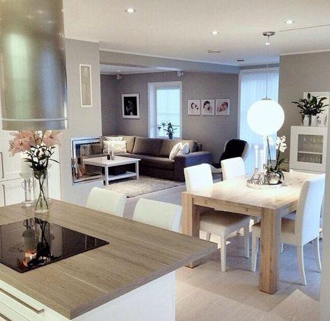 Découvrir la beauté de la petite cuisine ouverte! Salons, Living - Cuisine Ouverte Sur Salle A Manger Et Salon