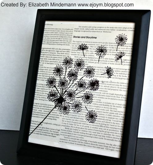 framed art from old book pages from knock off decor - Book Pages Art