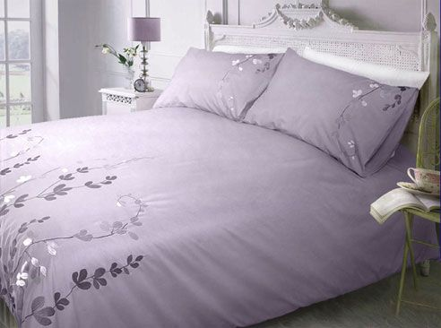 Lavender And White Bedspread Shades Of Wine Lilac