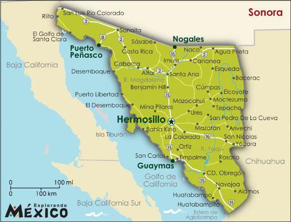 Full Sonora L Hermosillo Sonora Mexico Sonora Mapa De Mexico