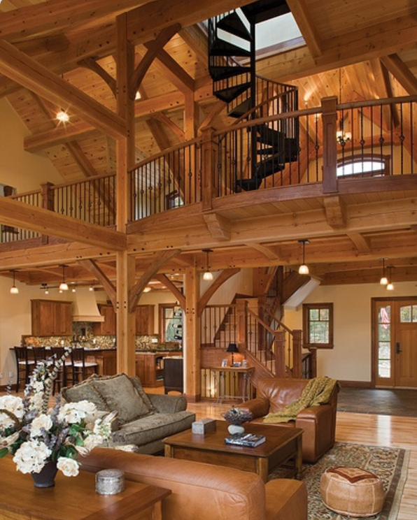Timber House, Log Cabin Homes, Barn