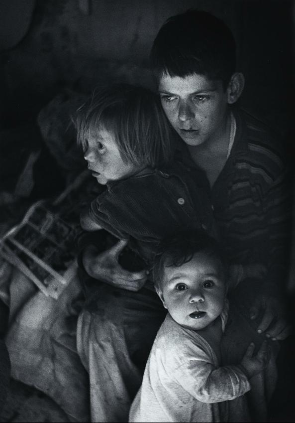Ansel Adams | Trailer Camp Children, Richmond, California | c.1936