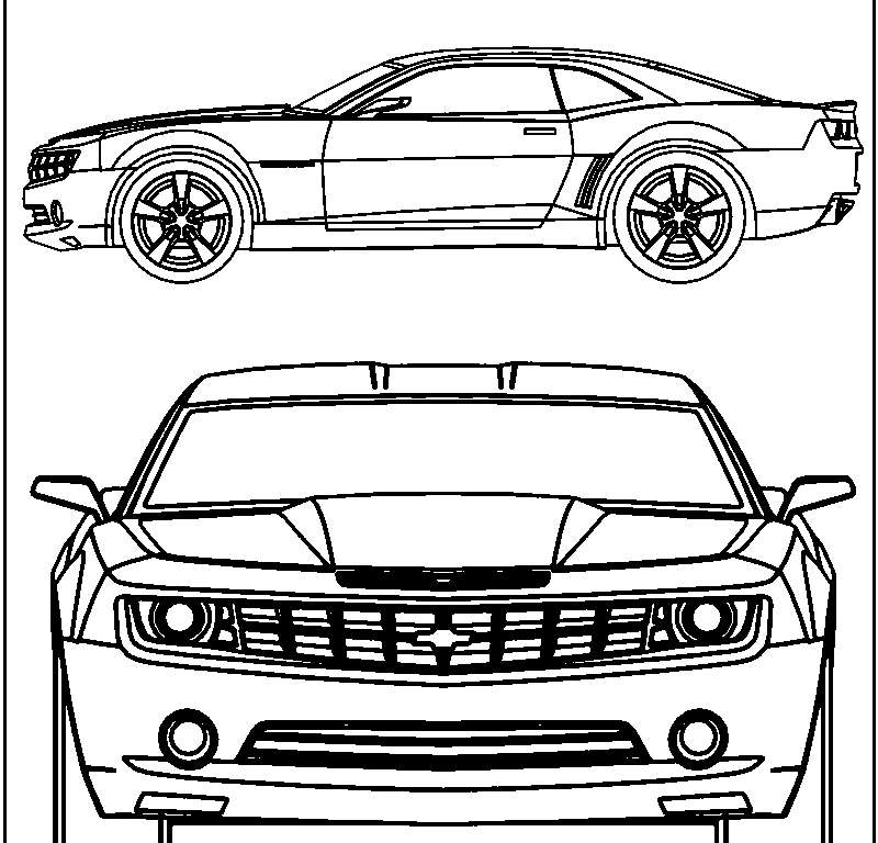 chevy camaro coloring page coloring home | News to Gow | Pinterest