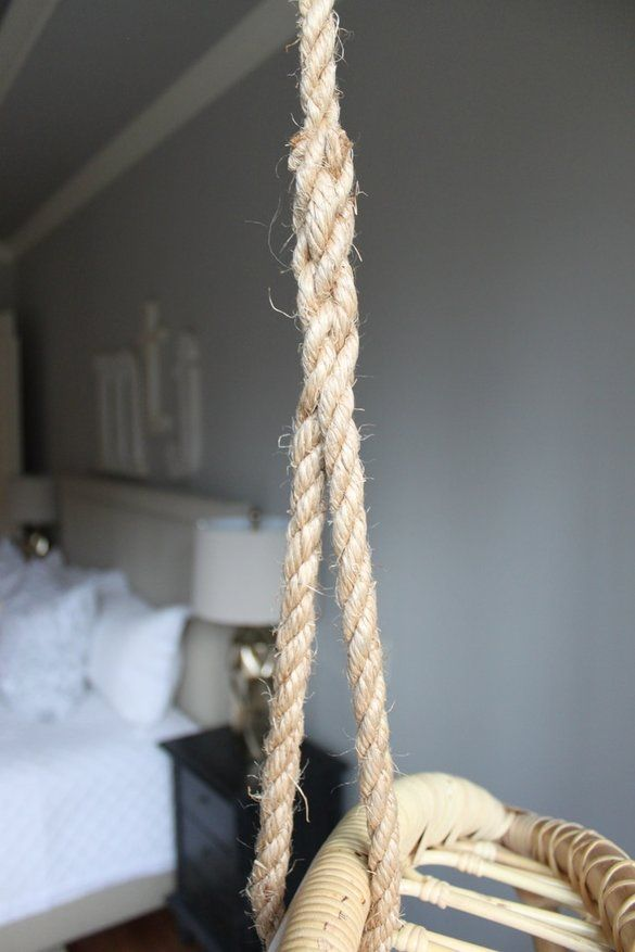 How To Tie A Knot On A Hanging Chair By Uncle Bill At The Redesign Company Hanging Chair Ladder Decor Decor