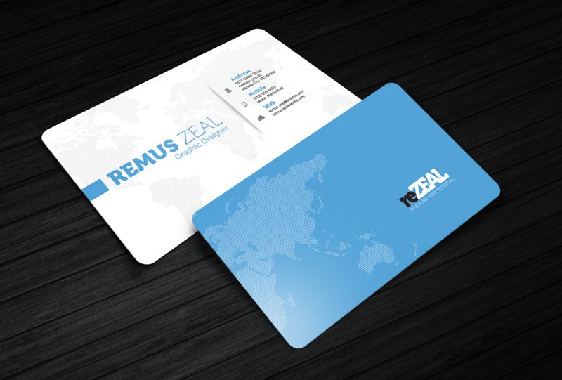 Free Photoshop PSD Business Card Template Download ReZEAL Http - Free business cards templates photoshop