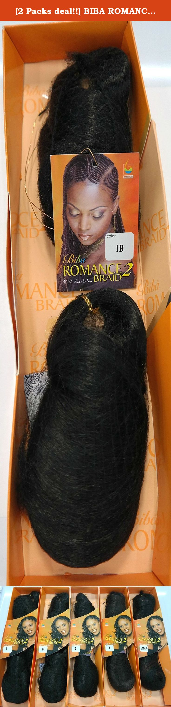 2 Packs Deal Biba Romance 2 Braid 1b 100 Kanekalon Wig