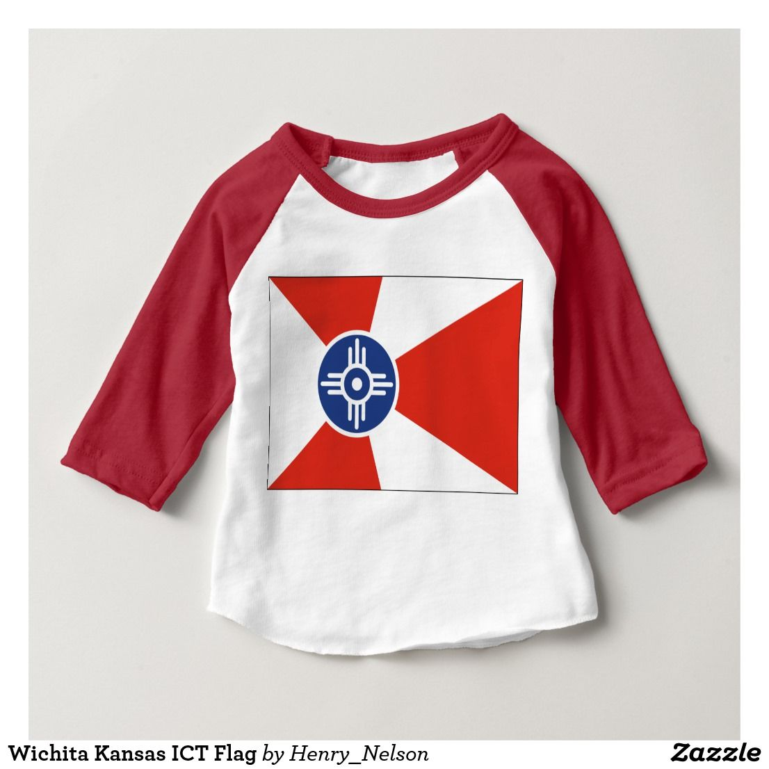 Wichita Kansas Ict Flag Baby T Shirt In 2018 Wichita Kansas Ict