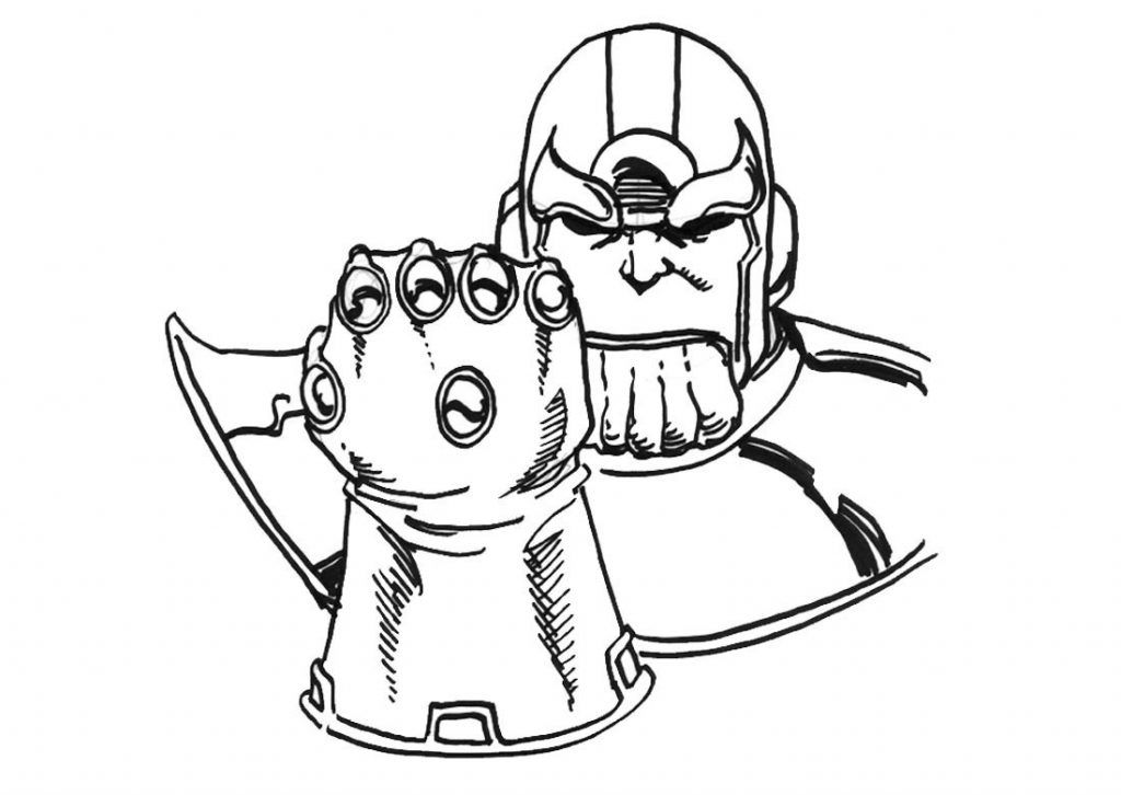 Printable Thanos Coloring Pages In 2020 Avengers Coloring Pages